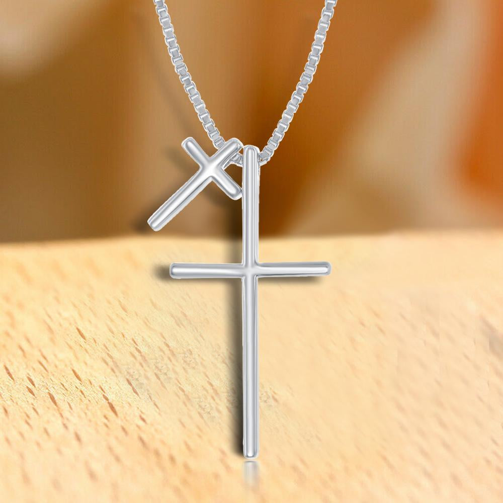 Necklace Double Cross Necklace