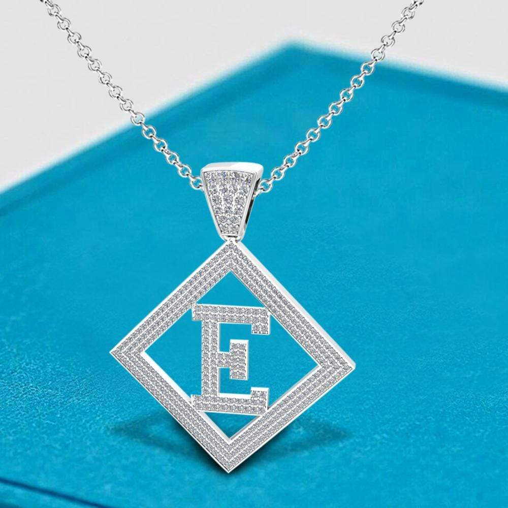 Necklace E Initial Pendant