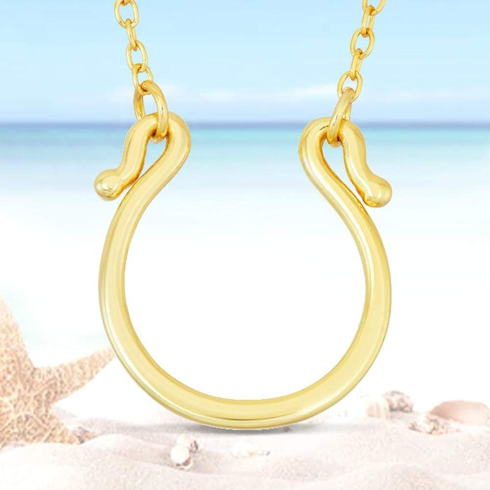 Necklace Gold Finished Horseshoe Necklace Gold Finished Horseshoe Necklace Sterling Silver