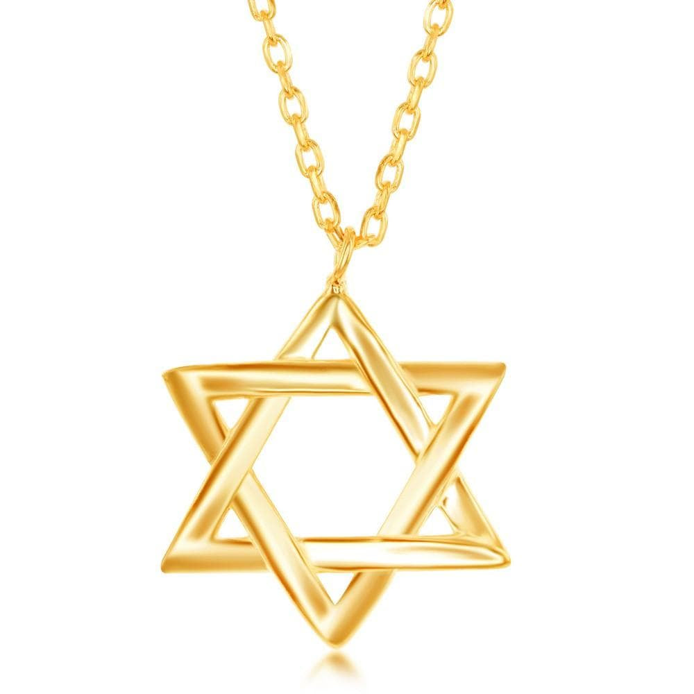 Necklace Gold Star of David Necklace Gold Star of David Necklace Sterling Silver