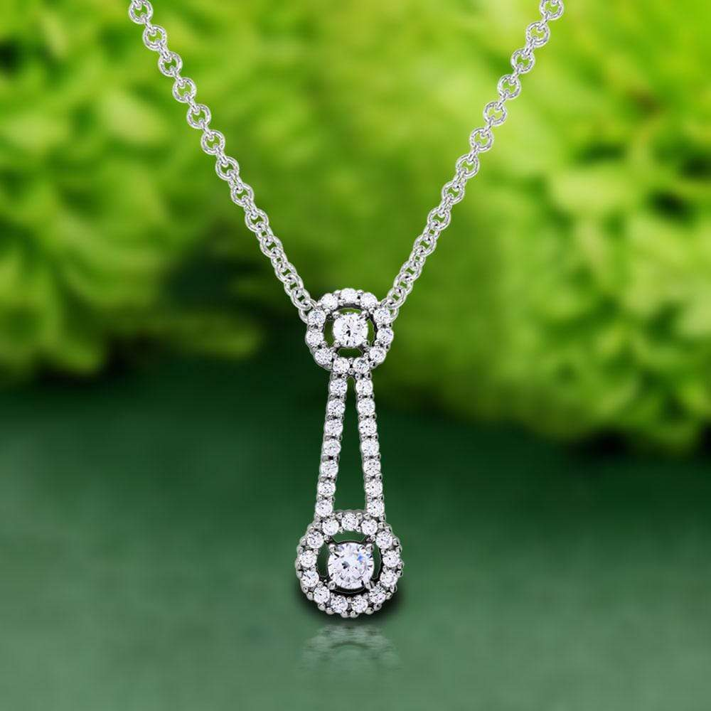 Necklace Halo Drop Diamond Necklace For Her