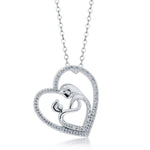 Mom & Child Heart Shape Necklace