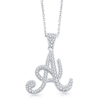 Necklace Initial Letter A Pendant Necklace