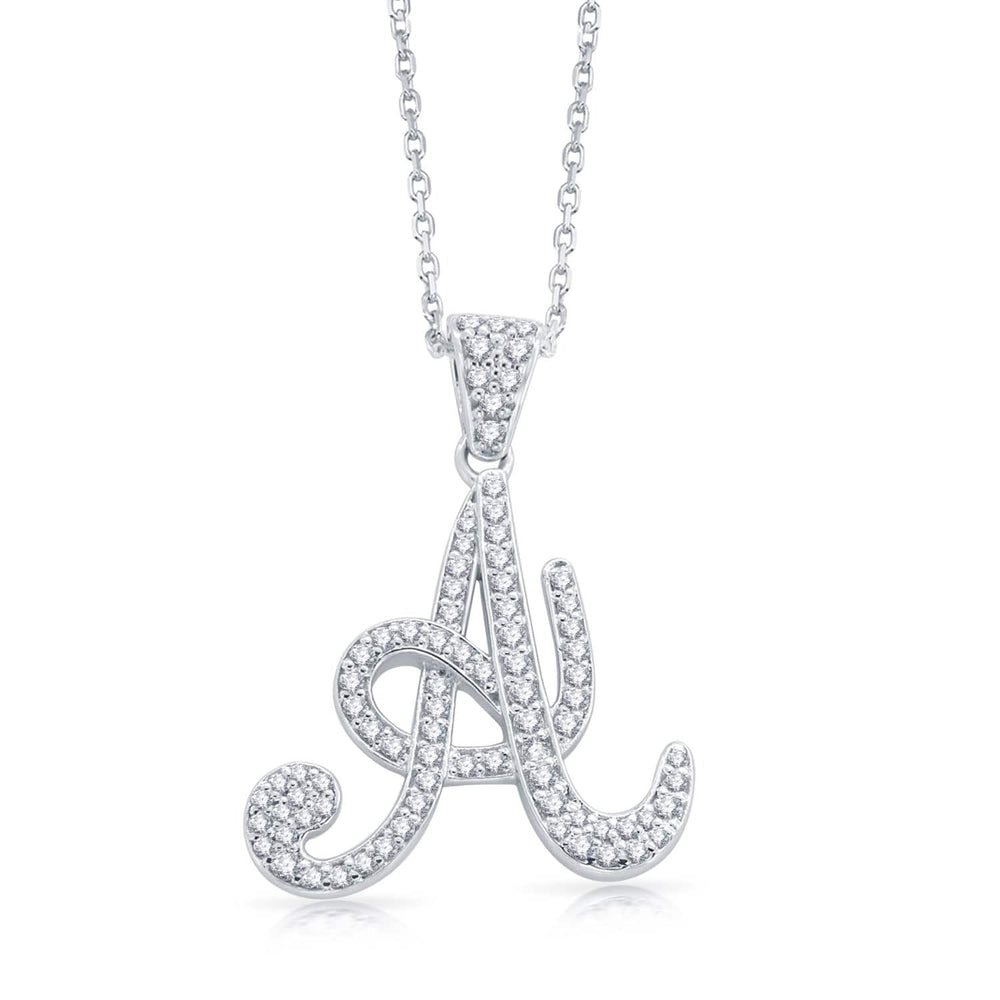 Necklace Initial Letter A Pendant Necklace Free Chain