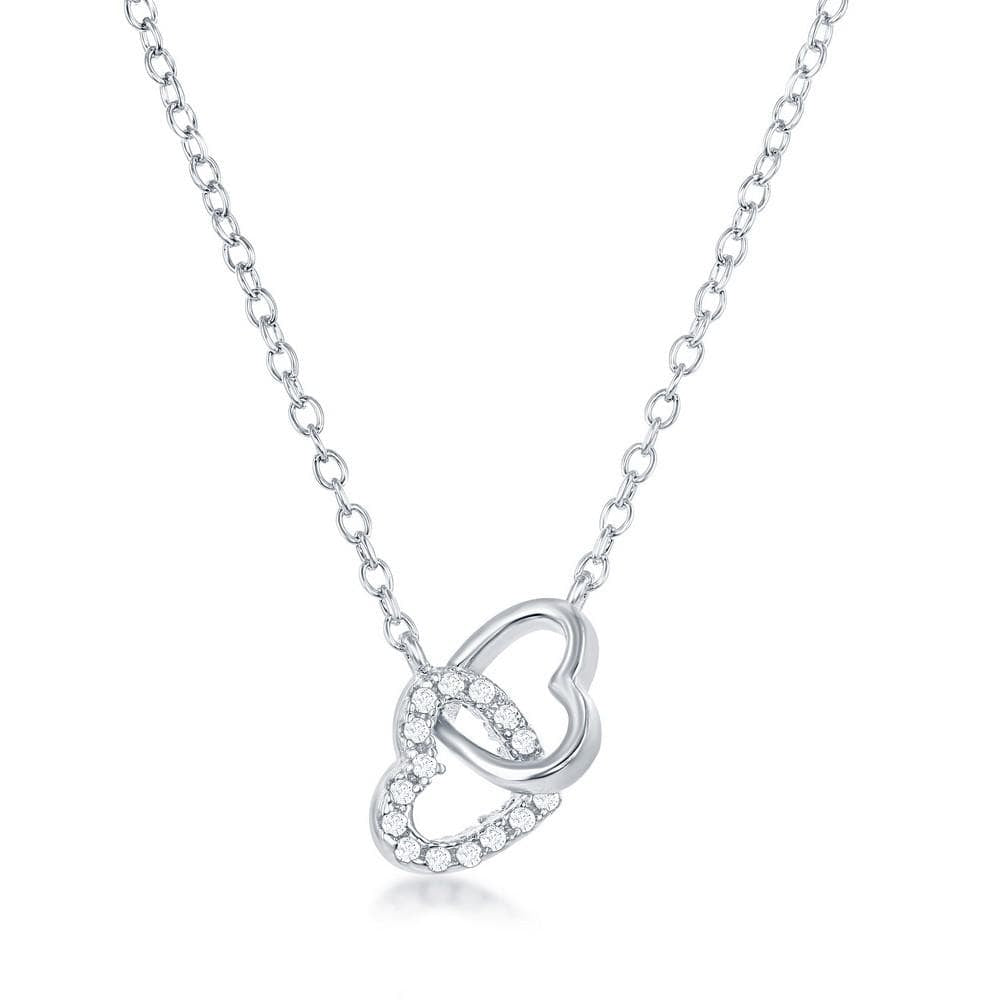 Interlocking Double Heart Necklace