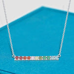 Necklace Journey Bar Pendant Necklace