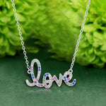 Necklace Love Script Pendant Necklace