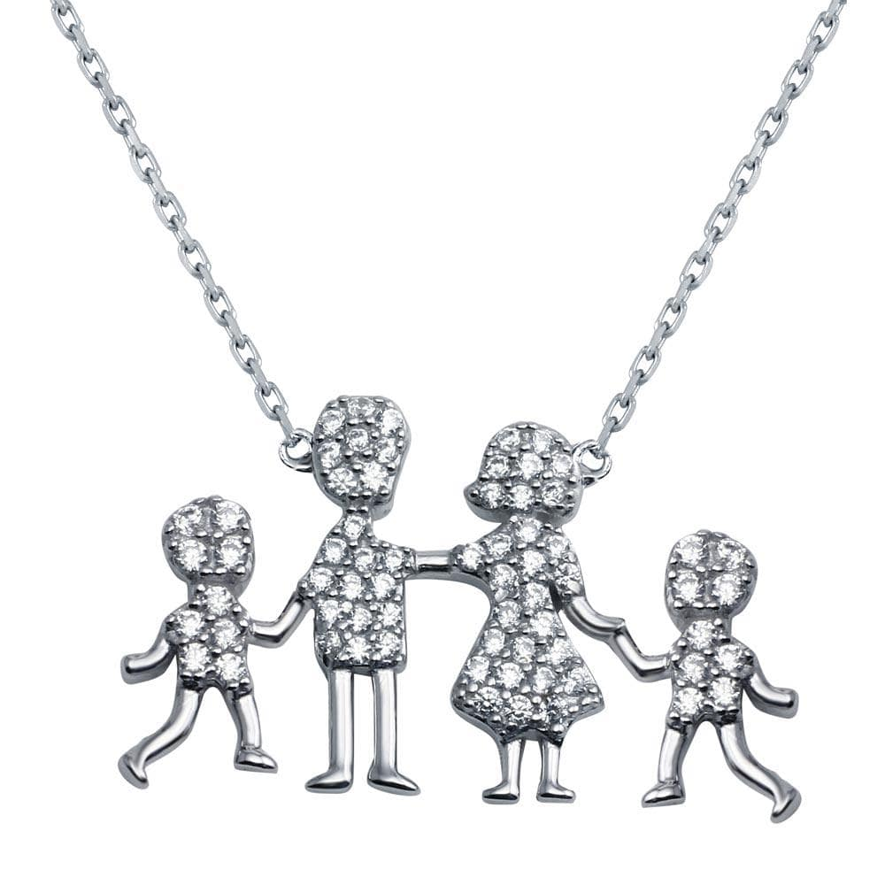 Necklace Mom, Dad, Baby Boys Family Necklace