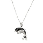 Mother & Baby Dolphin Necklace