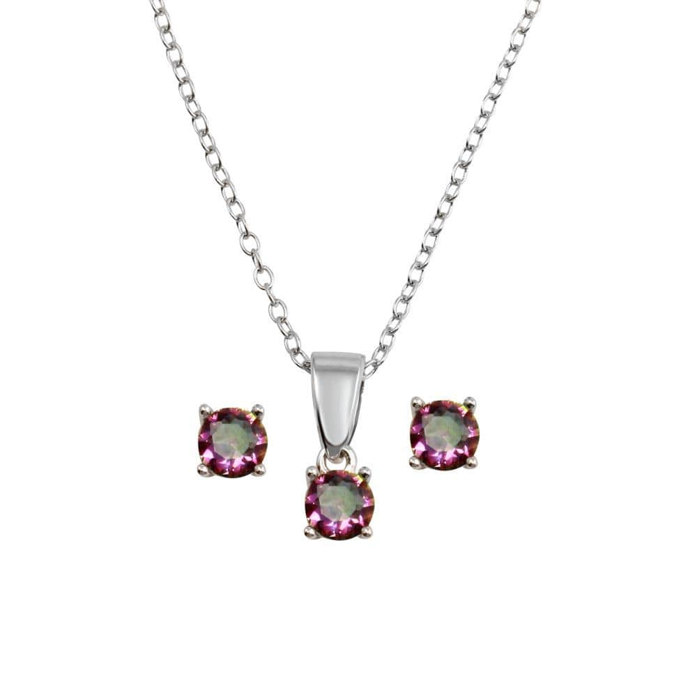Mystic Topaz Earring And Necklace Set