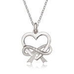 Necklace Open Heart and Bow Necklace Open Heart and Bow Necklace Sterling Silver