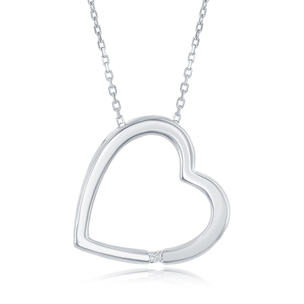 Diamond Accent Open Heart Necklace