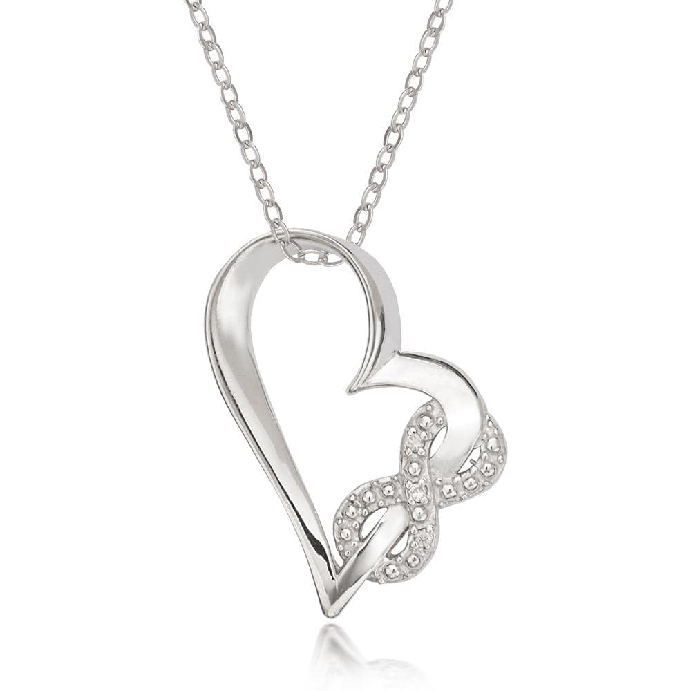 Necklace Open Heart with Infinity Necklace Open Heart with Infinity Necklace Sterling Silver