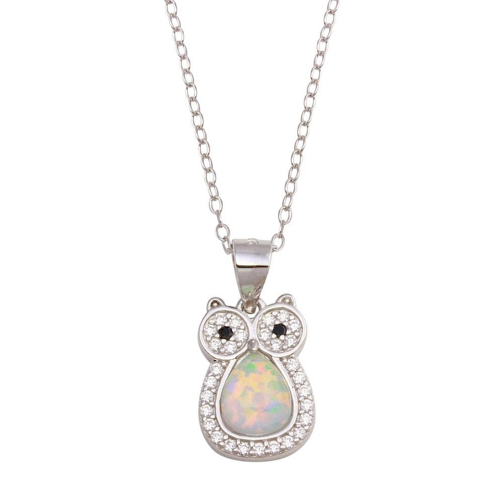 Necklace Owl Opal Necklace with Diamond