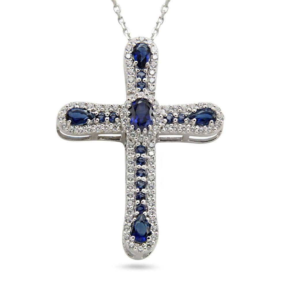 Cluster Cross Pendant Necklace