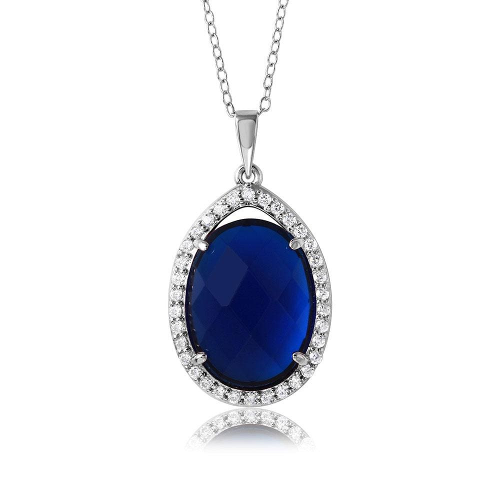 September Birthstone Halo Necklace