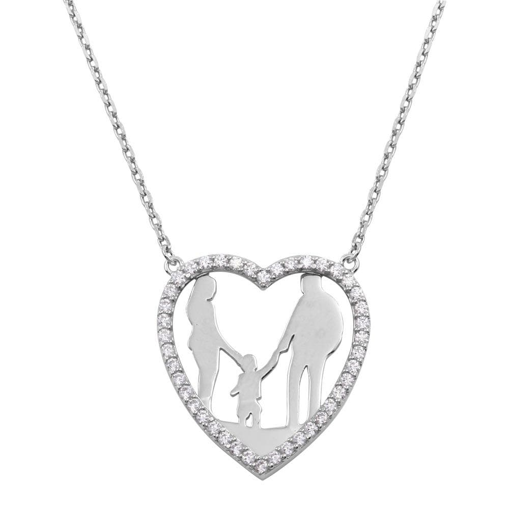 Necklace Son Open Heart Family Necklace