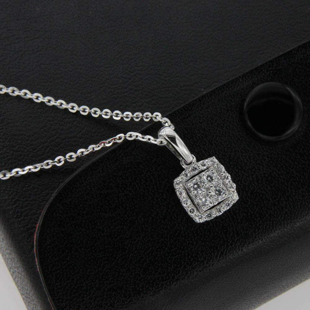Necklace Square Pendant Necklace For Women's