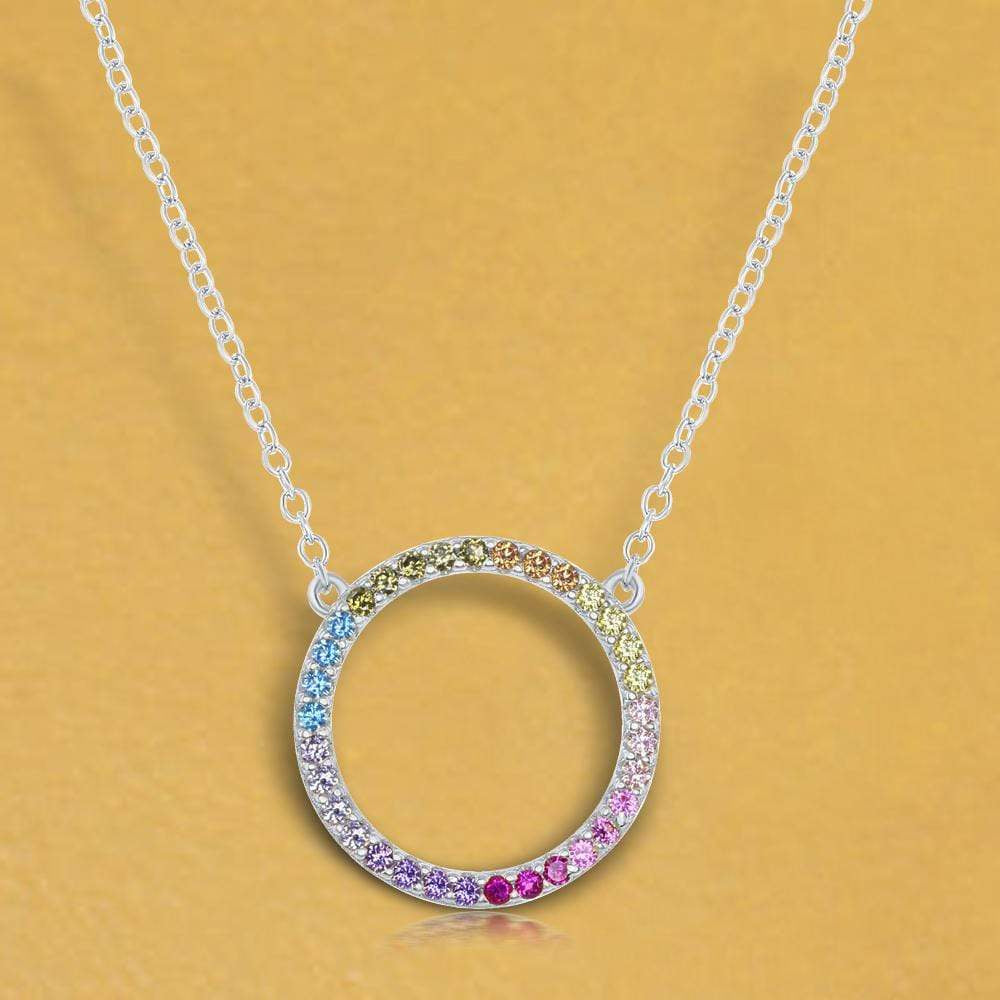 Necklace Sterling Silver Circle of Life Necklace