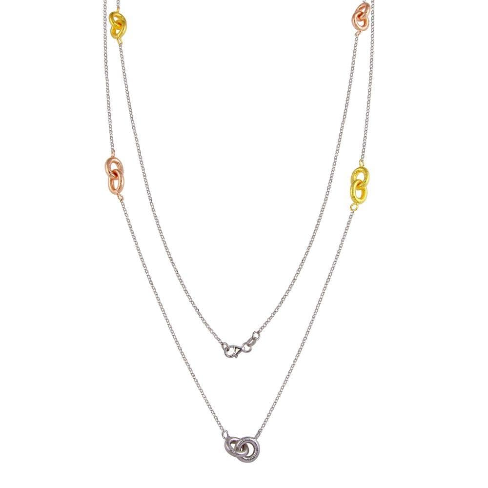 Necklace Tri-Colored Link Chain Necklace