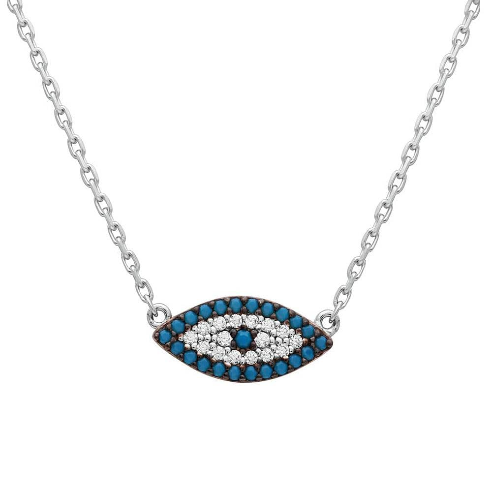 Necklace Turquoise and Evil Eye Necklace