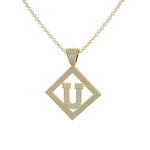 Necklace U Initial Pendant