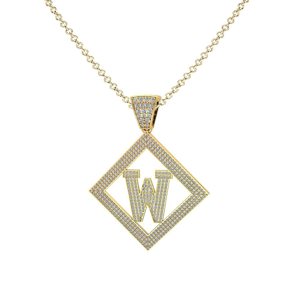 Necklace W Initial Pendant