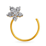 Nose Pin Ring Piercing Diamond Stud