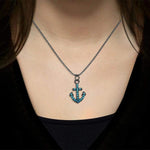 Anchor Pendant Turquoise Necklace