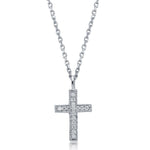 Milgrain Cross Pendant Necklace