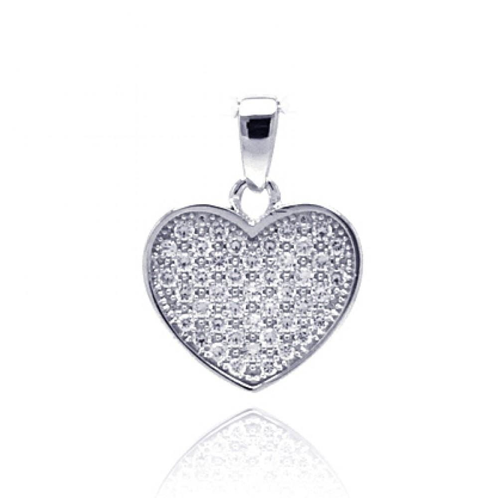 Pendant Diamond Heart Dangling Pendant