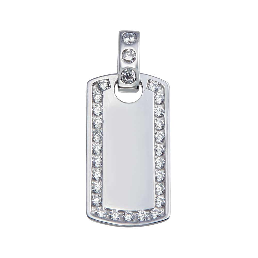 Pendant Dog Tag Bar Pendant
