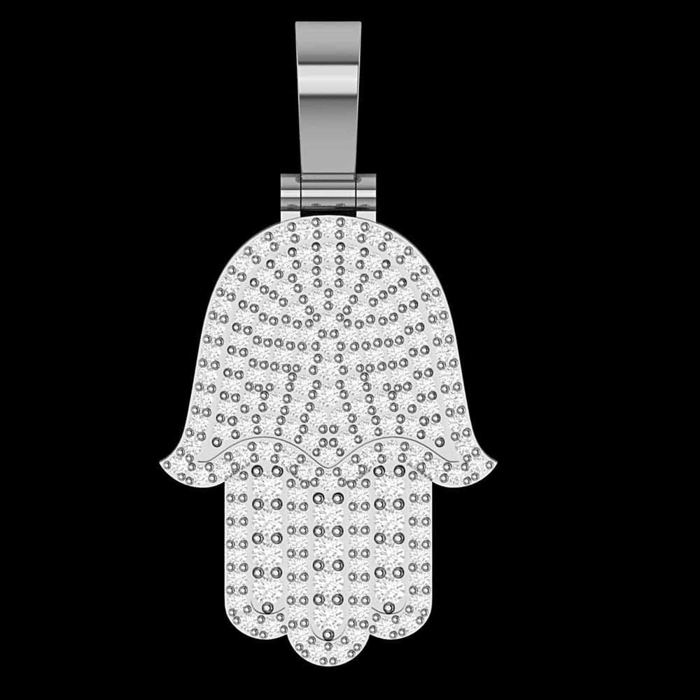 Pendant Hamsa Diamond Pendant Necklace