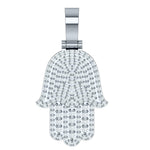 Hamsa Diamond Pendant Necklace