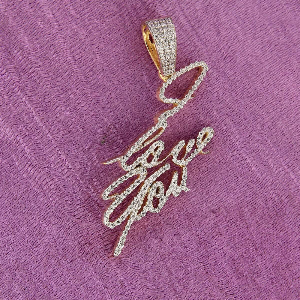 Pendant I LOVE YOU Name Plate Pendant Charm