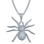 Spider Pendant In Sterling Silver For Men
