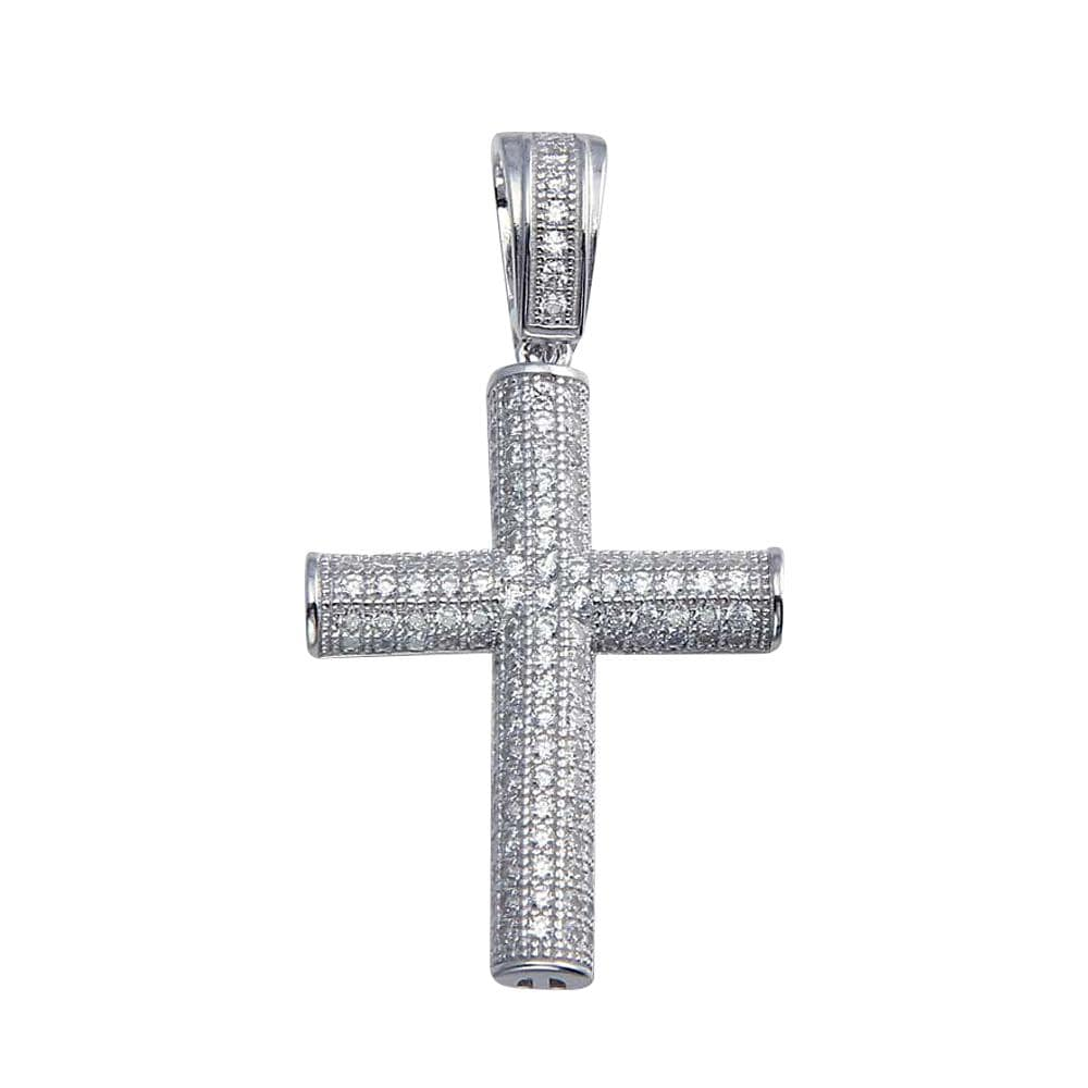 Pendant Tube Cross Pendant Men's
