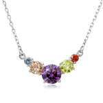 Pendant V Shaped Multi-Color Round Necklace