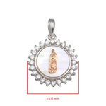 Pendant Virgin Mary Medallion Pendant