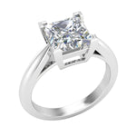 Ladies Engagement Solitaire Princess Diamond Ring