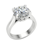 Ladies Solitaire Round Diamond Engagement Ring
