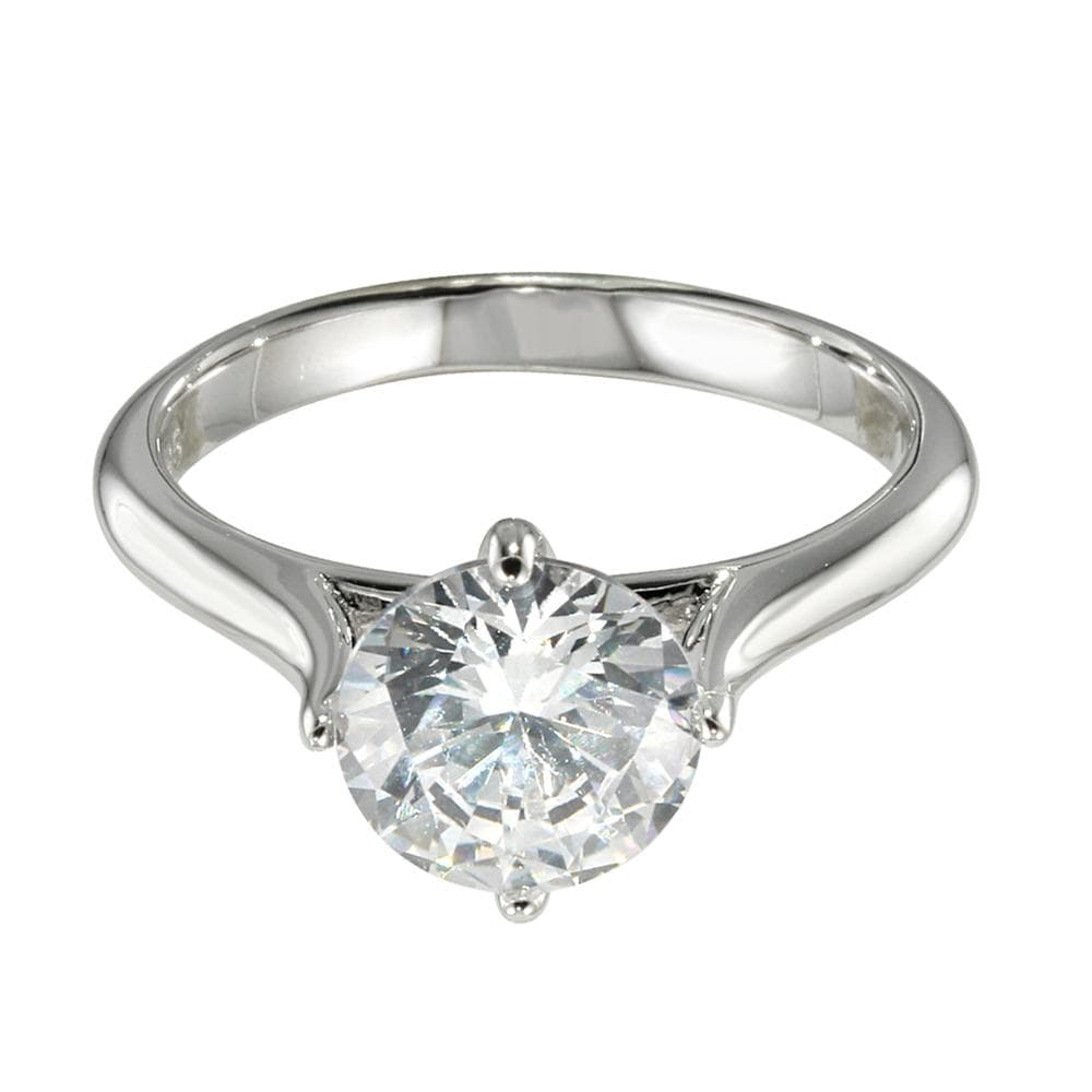 Solitaire Rings Ladies Solitaire Silver Ring