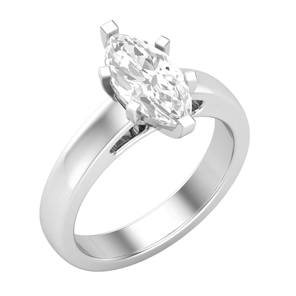 Solitaire Marquise Diamond Ladies Engagement Ring