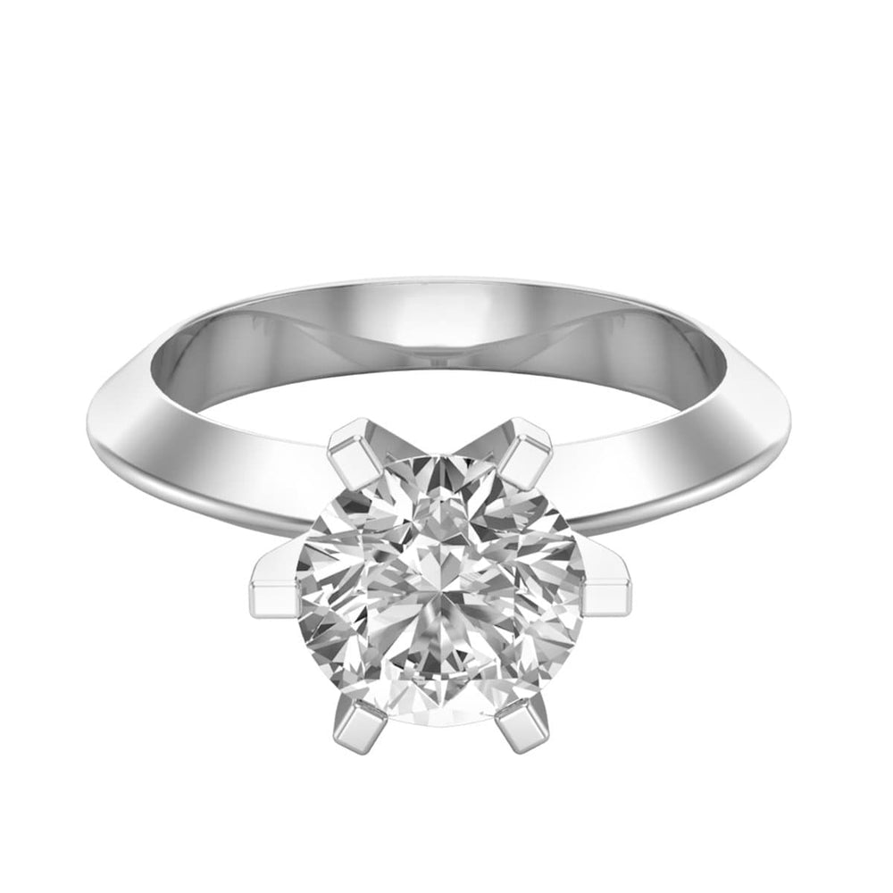 Solitaire Rings Solitaire Round Cut Diamond Ladies Engagement Ring