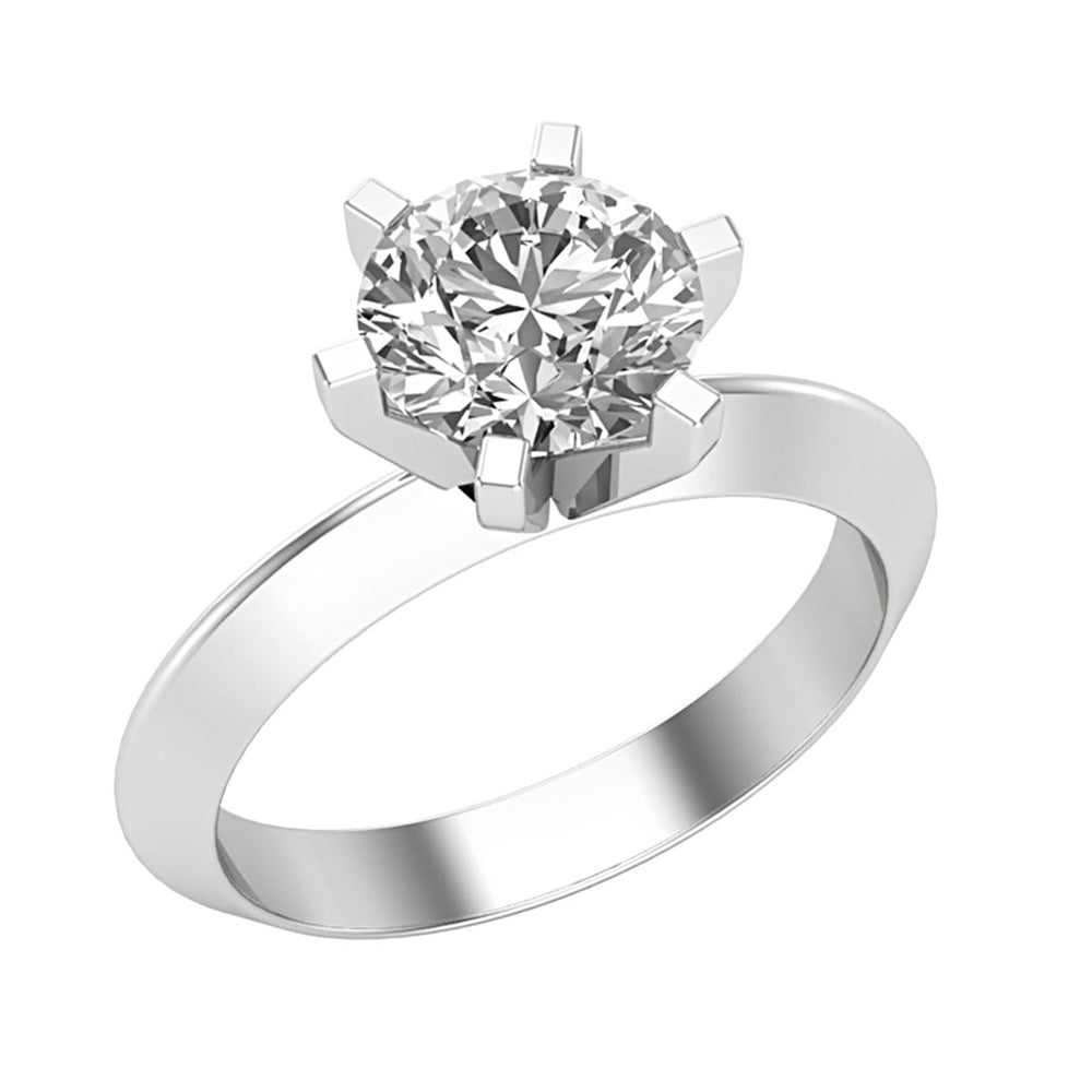 Solitaire Round Cut Diamond Ladies Engagement Ring