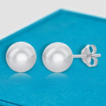 Studs 10mm Round Ball Bead Stud Earring 10mm Round Ball Bead Stud Earring Sterling Silver