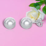 Studs 8MM Round Ball Shaped Stud Earrings 8MM Round Ball Shaped Stud Earrings Sterling Silver