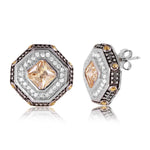 Octagon Stud Earrings