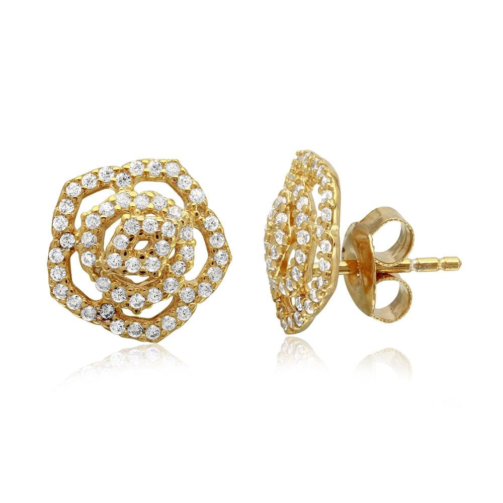 Halo Flower Stud Earrings
