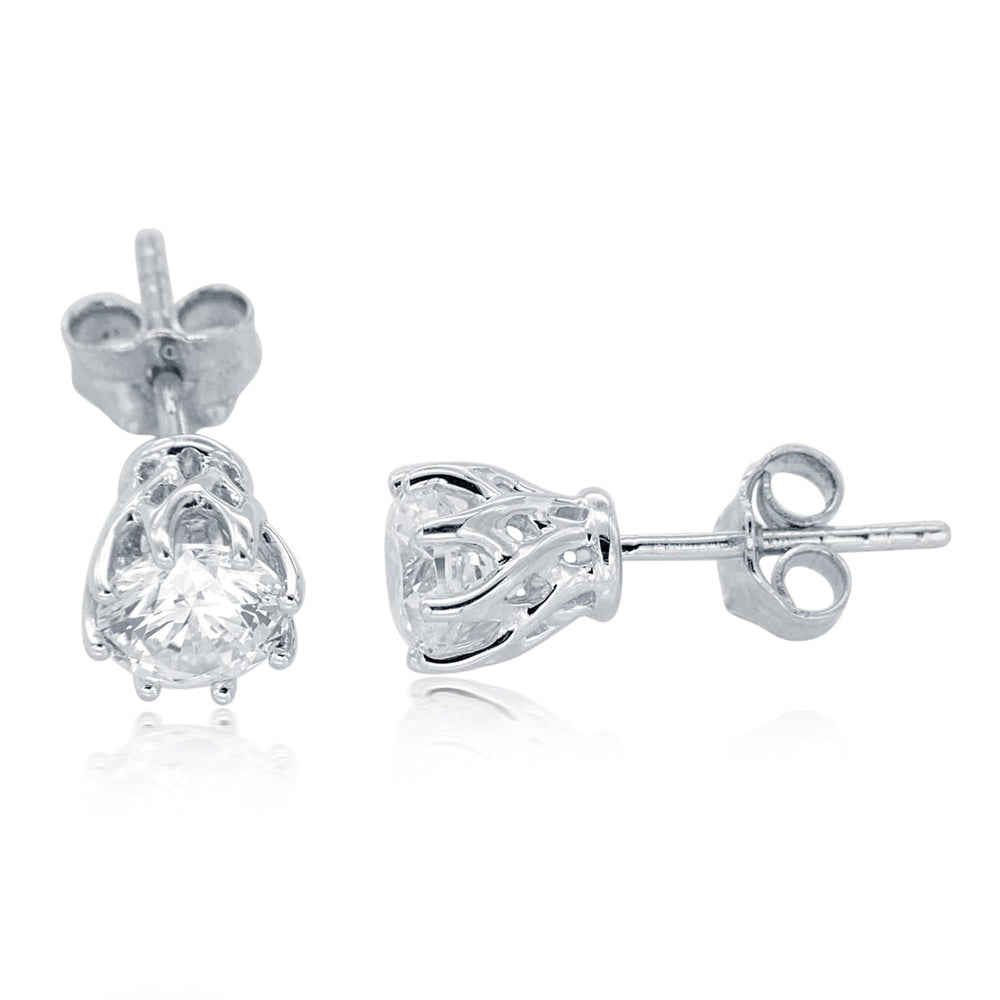 Brilliant Solitaire Stud Earrings